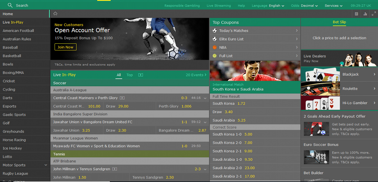 Statistic Bet365 - bookmaker.co.ke