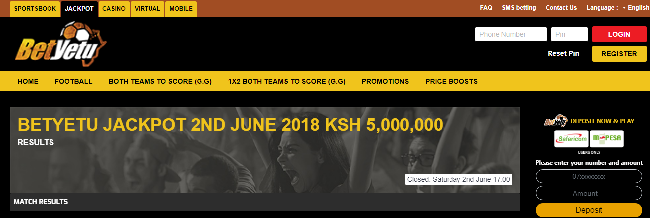 Bettibg betyetu - bookmaker.co.ke
