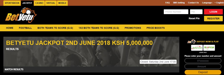 Betyetu Kenya betting