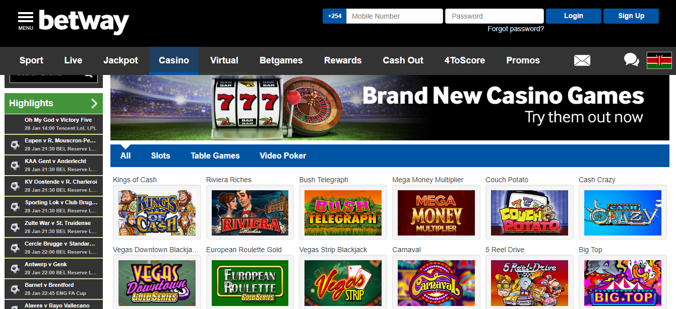 Betway casino - bookmaker.co.ke