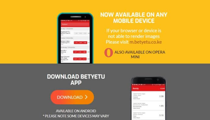 BETYETU MOBILE - bookmaker.co.ke