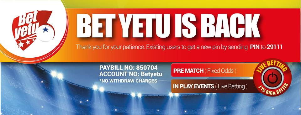 Bet yetu is Betietu - bookmaker.co.ke