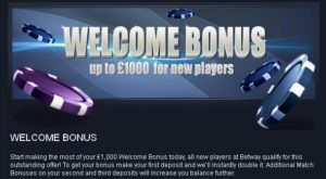 Welcom bonus - Betwey bonus